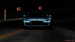 Audi R8 with Head Lights by Dark-Lord-of-Sith