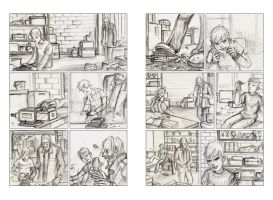 White Knuckle pages14-15 - pencils.. by neurotic-elf