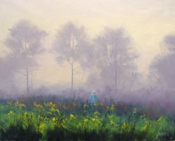 Stroll in the Mist by artsaus