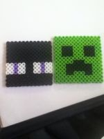 Endermen and Creeper by animation0124