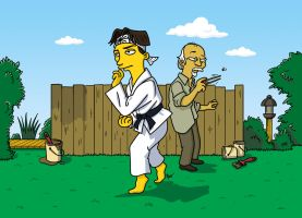 Karate Kid Simpsonized by ADN-z