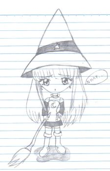 Little witch Sketch by haojpc