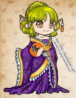 Color: Chibi Tang Dynasty by grayscalerainbowww