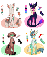 -CLOSED- Sia Point Adoptables 1 by NotsoJelly