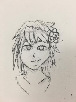 Mai Headshot sketch practice  by TACtheDragonRider