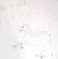 My Dino and I are BFFs by gir-is-me