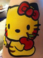 Hello Kitty-Face Painting- Pikachu- Face by sazmullium