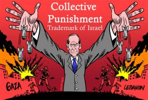 Collective Punishment by Latuff2