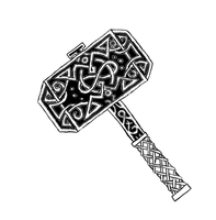 White Handled Mjolnir Tat by ice-fire