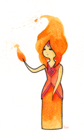Flame Princess by laitdepomme
