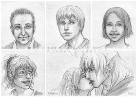 Portrait Commissions - third batch by SerenaVerdeArt
