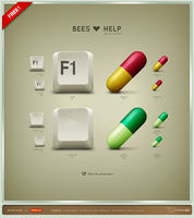 Bees Help Icons by artbees