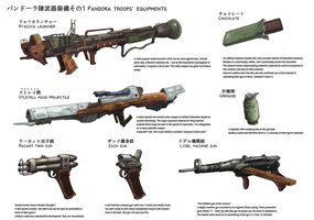 Pandora Troops' Equipments by AoiWaffle0608