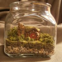 Lord of the Rings - Hobbit Hole in a Jar by JediTrucker