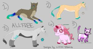 Adoptables -closed- ALL FREE by Miss-Ellanius