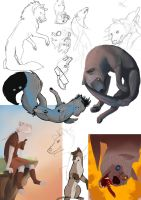 Unfinished Art Trades sketchdump by Barkyn
