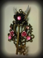 Pink Chandelier Fantasy Key by ArtByStarlaMoore