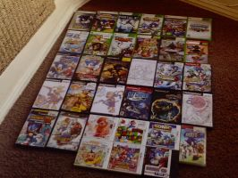 My Video Game Collection by Wolfiisaur