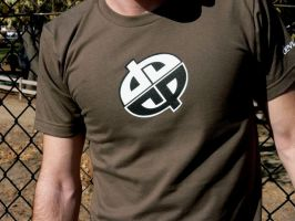 Army Green Double Logo Shirt by deviantARTGear