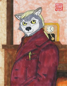 Classy Victorian wolf by Kithrak