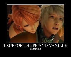 Hope and Vanille poster by Snow22