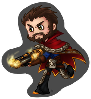 LoL:  Graves Chibi by roseannepage