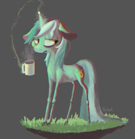 malnourished mint horse by BerryDrops