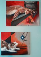 Dead Rabbit Diptych by FranklymyDeer