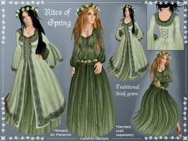 Rites of Spring Celtic Gown by Elvina-Ewing