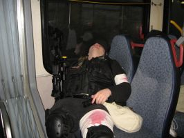 Unwanted Napping on a bus... by Alucard-Dracula01