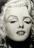 Marilyn Monroe process by jeanetkristensen