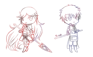 Cordelia and Lon'qu -for Moonlit Butterfly Wings  by tweepy