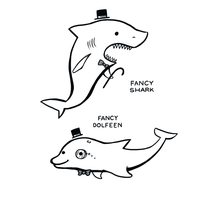 Fancy Shark, Fancy Dolfeen by arseniic