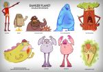 Danger Planet Character Design by RYE-BREAD