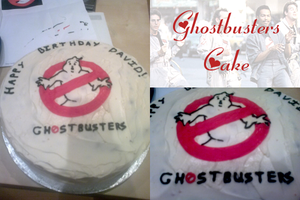 Ghostbusters Cake by Dark-Queen-of-Death