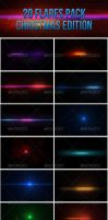 20 Lens Flares Pack-Christmas Edition by madalincmc