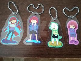 Undertale keychains for sale by DarkDragonTanis