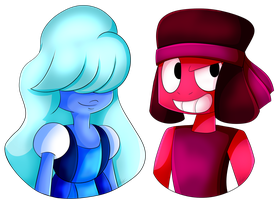 Ruby and Sapphire by ACLuigiYoshi