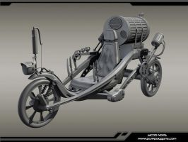 Steampunk Vehicle Highpoly by Jacob-3D