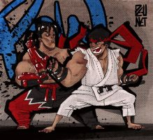 Ryu vs Jin by Pe-u