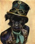 Steampunk affenpinscher by paint4you
