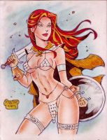 RED SONJA by RODEL MARTIN (02132015) by rodelsm21