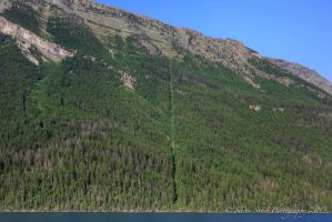 USA Canadian Border (from Waterton Lake) by Mac-Wiz