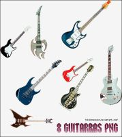 8 Guitarras PNG by tokiobsession