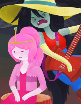 Marceline and Princess Bubblegum - Adventure Time by HitodeKyun