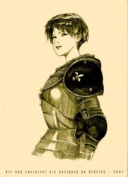 Joan of Arc Bust by Dedefox
