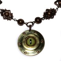 Steampunk eye Necklace by CatherinetteRings