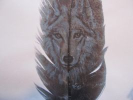 Wolf Portrait by Wildlifefeathers