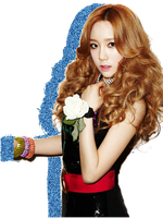 SNSD TTS Taeyeon Glitter Silhouette Edit PNG 03 by xElaine