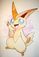 Victini Watercolour by carrie-warwick